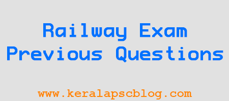 Indian Railway Group D Exam Selected Previous Questions