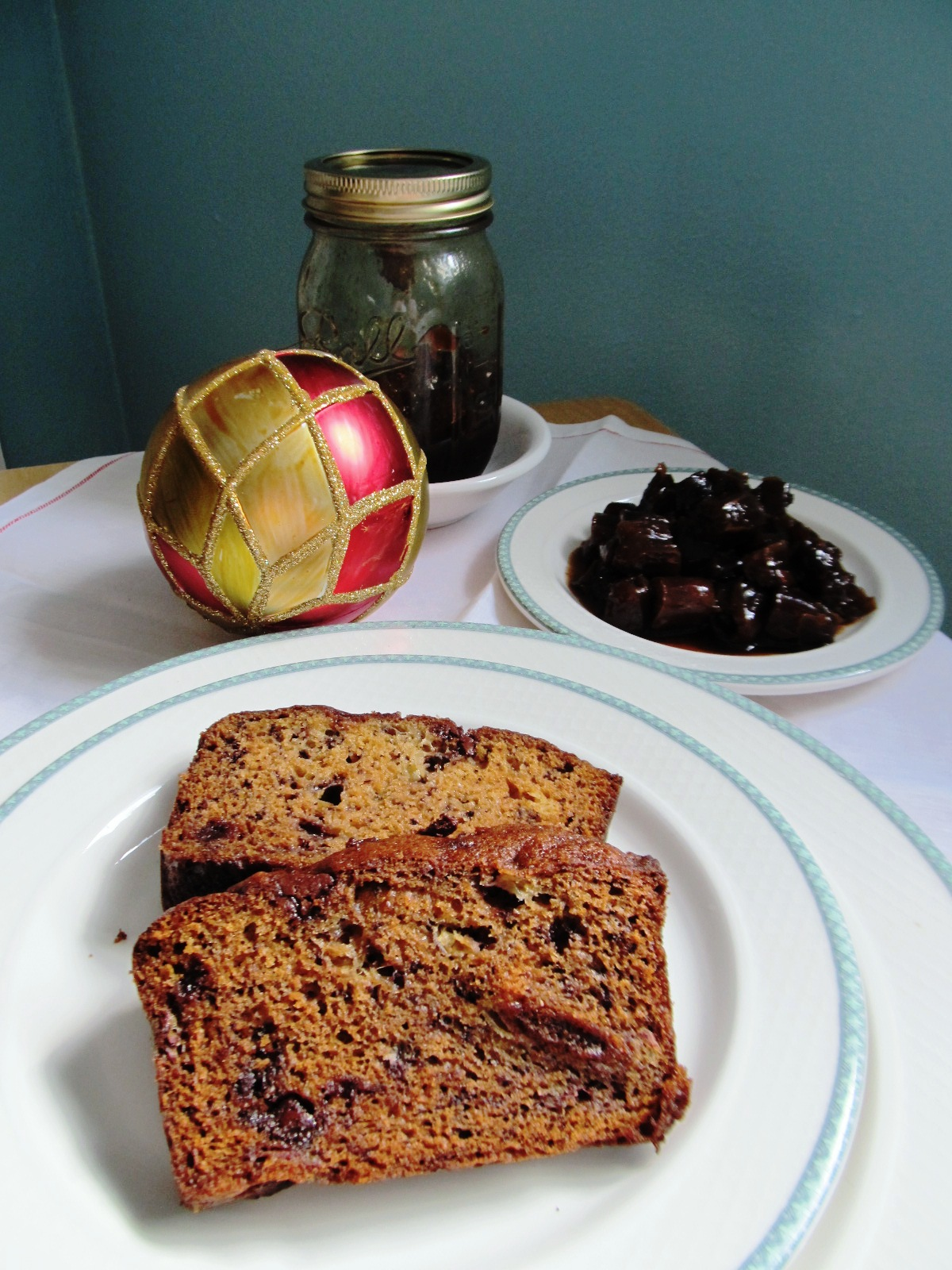 ... bread with chocolate and walnut bread the bread pudding and kahlua