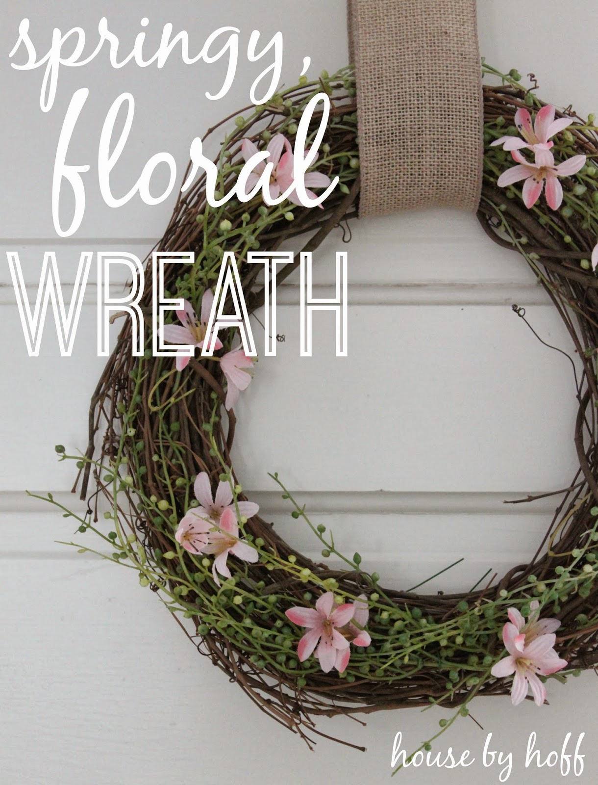 how to make a spring wreath via housebyhoff.blogspot.com