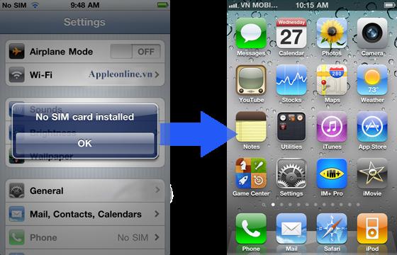 Unlock iphone bằng gevey sim