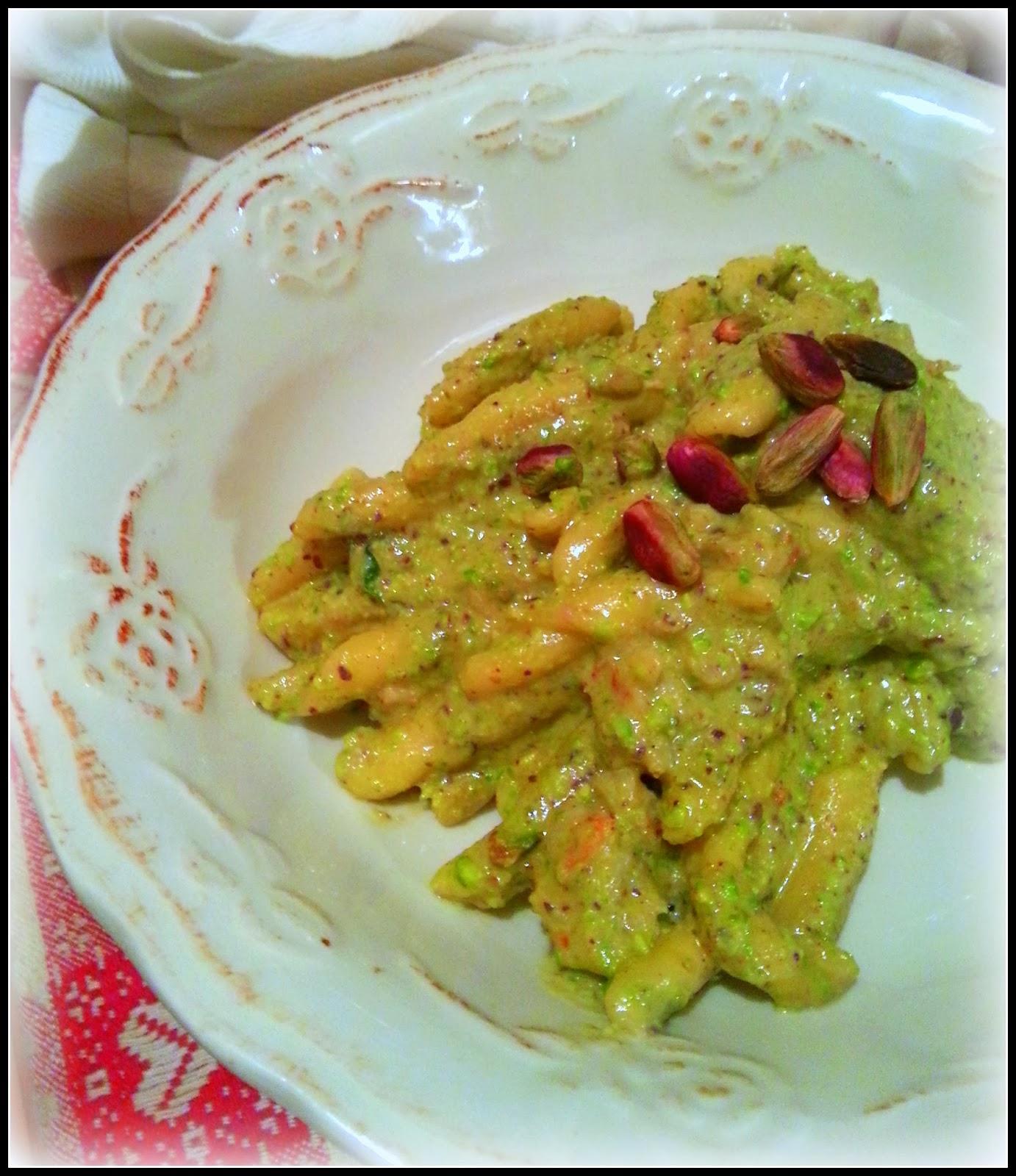 Ricetta pasta orata e pistacchi