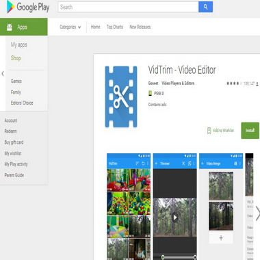 play google com - store - apps - vidtrim