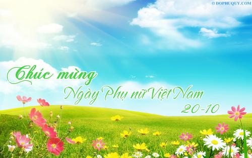 Hình ảnh chúc mừng ngày phụ nữ Việt Nam