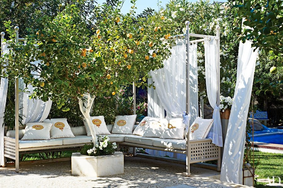 Fresh  retreat and instead create your outdoor oasis in the middle of your garden Use potted plants like yews and bountiful blooms like potted hydrangeas as