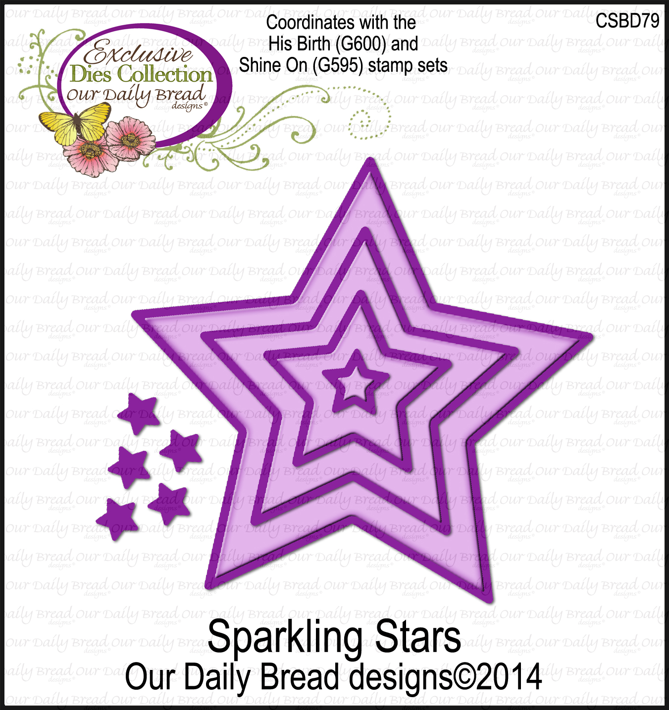 Our Daily Bread Designs ODBD Custom Sparkling Stars Dies