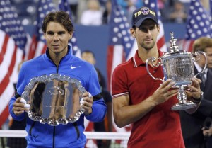 Rafa Nadal y Novak Djokovic en la final del US Open