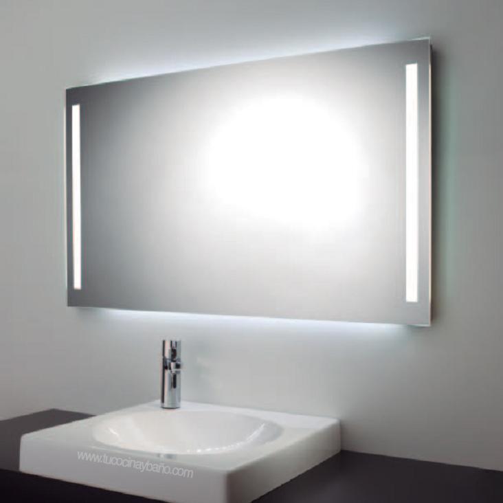 espejo ba o luz led ambiental tu cocina y ba o