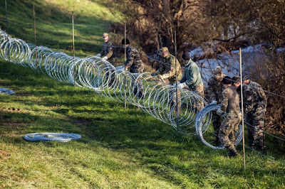 Szlovénia, határkerítés, illegális bevándorlás, migráció,