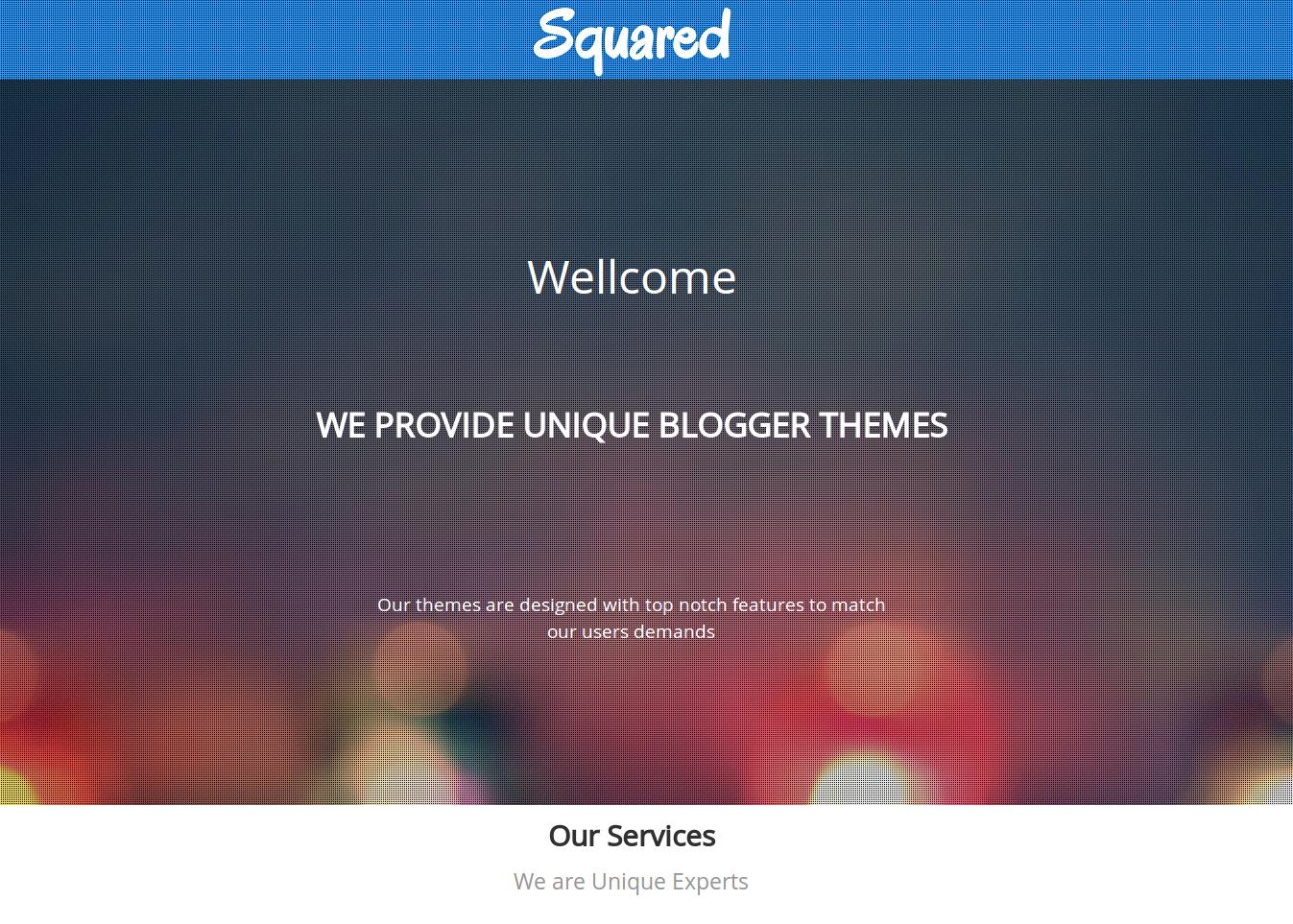 Squared Portfolio Blogger Template