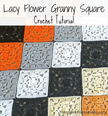 Free Lacy Flower Granny Square Crochet Tutorial And