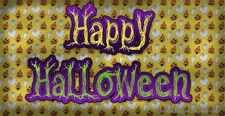 imagen de halloween con fantasmas y calabazas