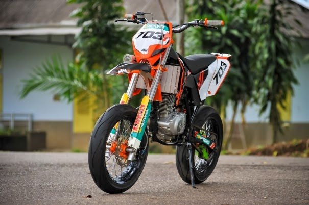 Suzuki Thunder 125 Modifikasi Aliran Trail Modal Rp15 Juta