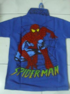 Kaos Krah Spiderman biru