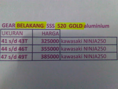 GEAR SSS GOLD 520
