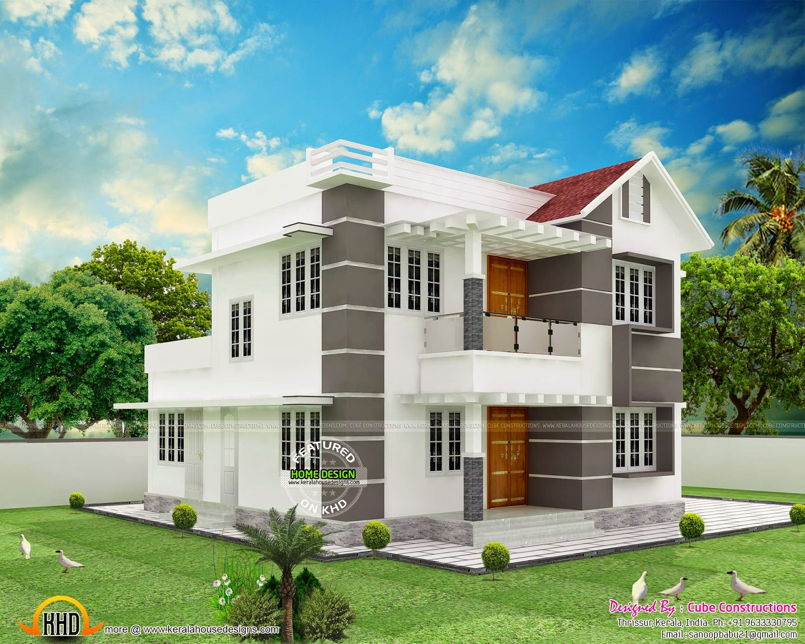 House design by cube constructions kerala home design for Modern cube house plans