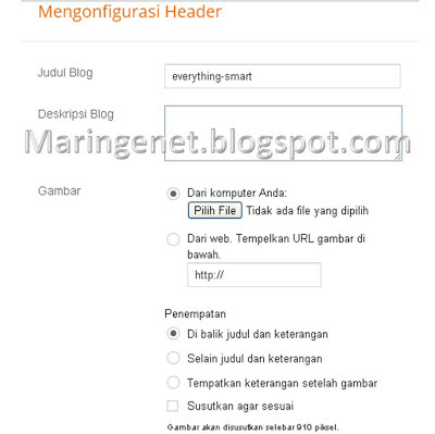Cara Mudah Mengganti Gambar Header Blogspot