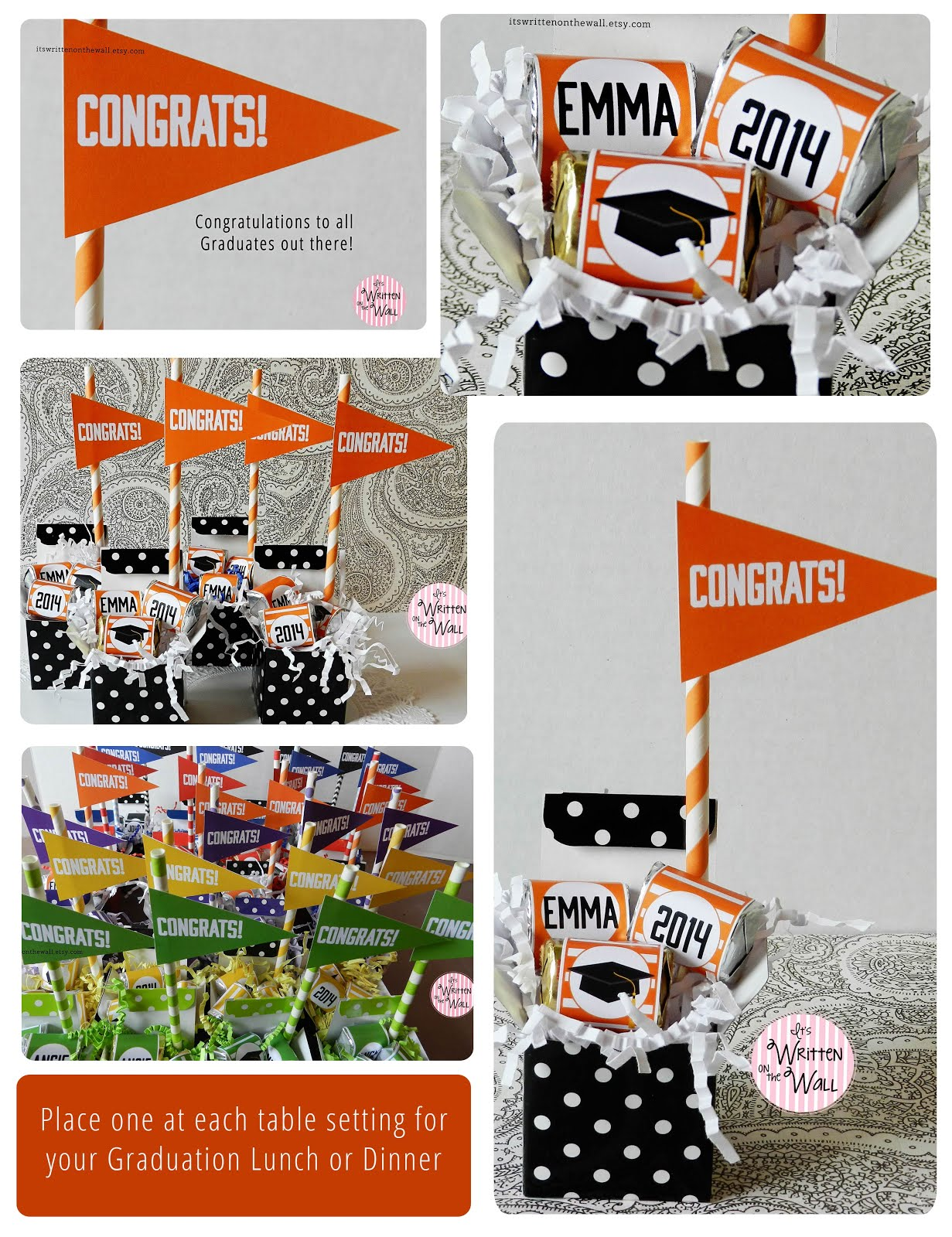 Fabulous Idea for Graduation Gift/Party Favors. Centerpiece