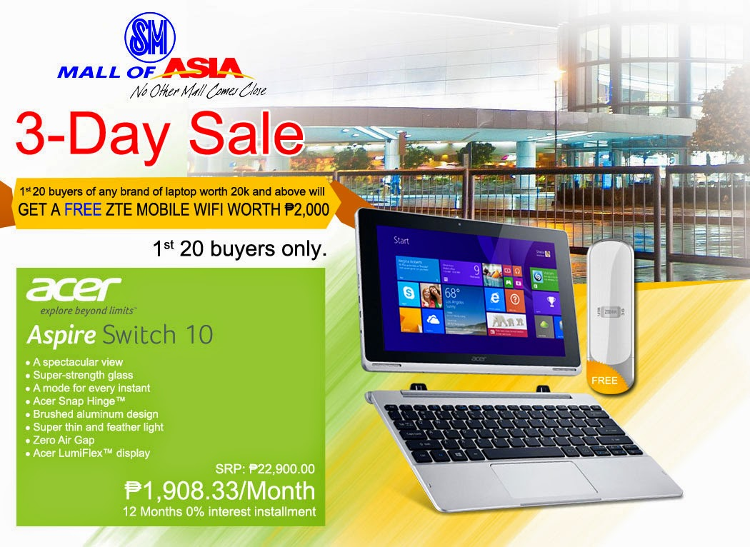 PC Express SM Mall of Asia 3 Day Sale