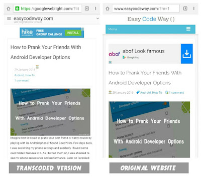 Compare Transcoded and Non-Transcoded Version