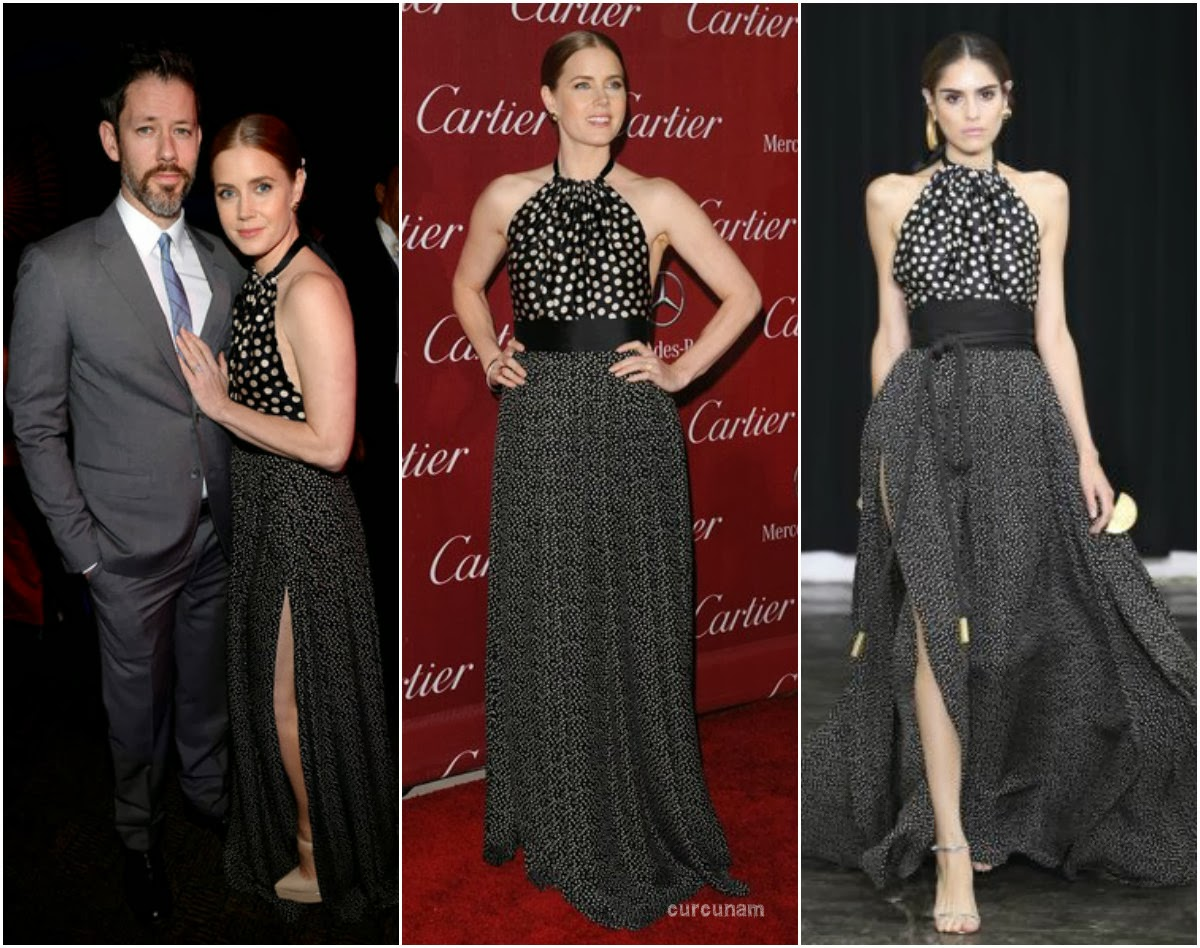 Amy Adams in 2014 spring summer Juan Carlos Obando. 2014 Palm Springs International Film Festival Awards Gala