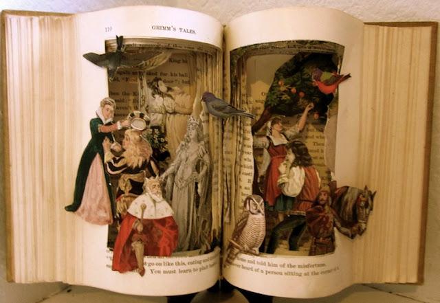 Arte com livros de Susan Hoerth