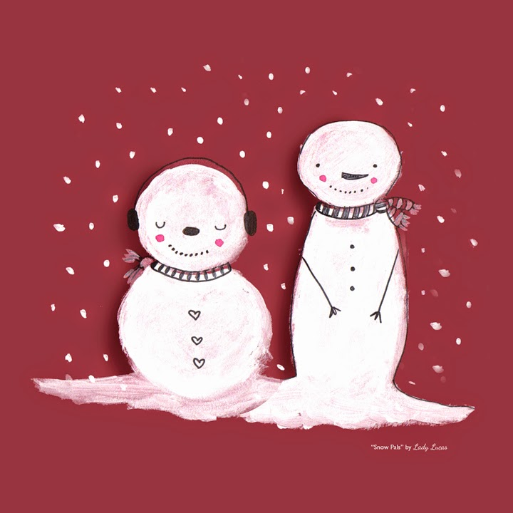 Snow Pals by Lady Lucas | #25DaysofSnowmen