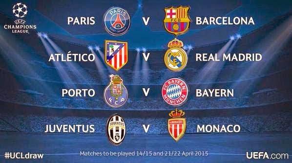 Keputusan Liga Juara Juara Eropah Separuh Akhir 2015