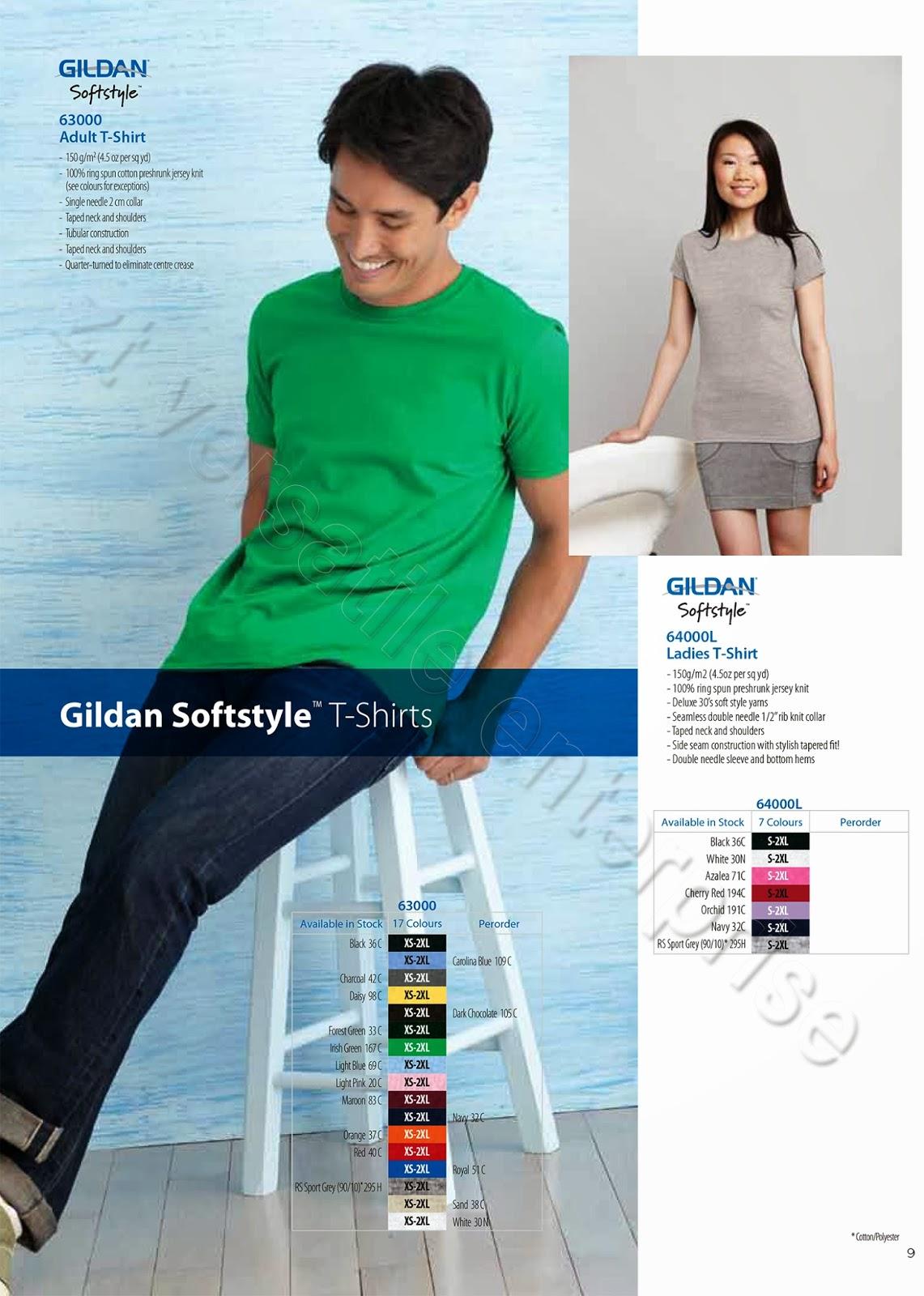 Gildan Softstyle 63000 Kaos Polos Original Carolina Blue Daftar Xs S M L Xl Charcoal Source Thank