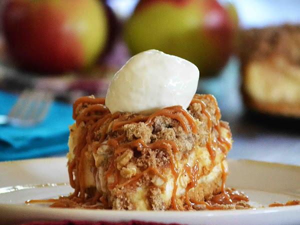 Caramel Apple Crisp Cheesecake ~The Secret Recipe Club~
