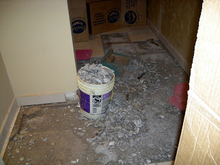 busting concrete floor