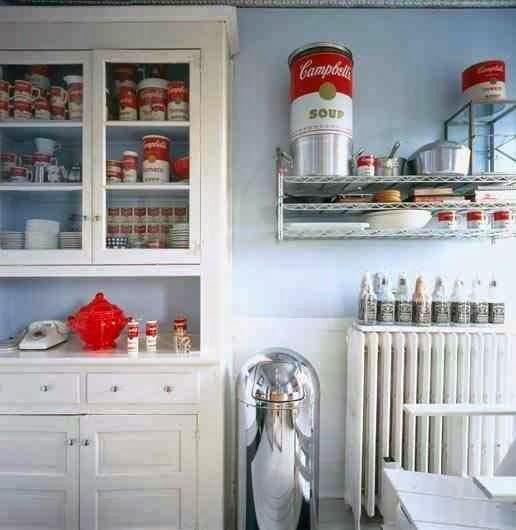 Pop-art w kuchni motyw Campbell's Soup