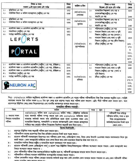LVNyl HSC examination routine 2012 Bangladesh
