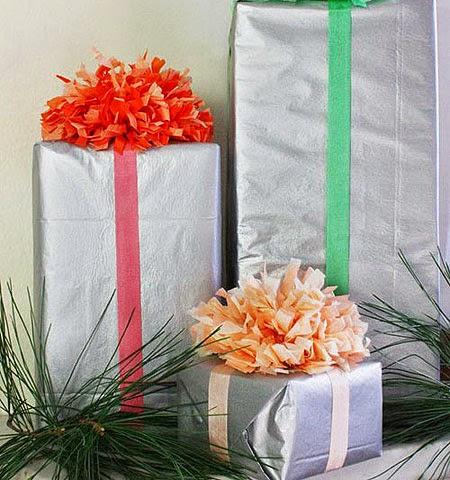 Идеи за сребърна опаковка на коледни подаръци за деца