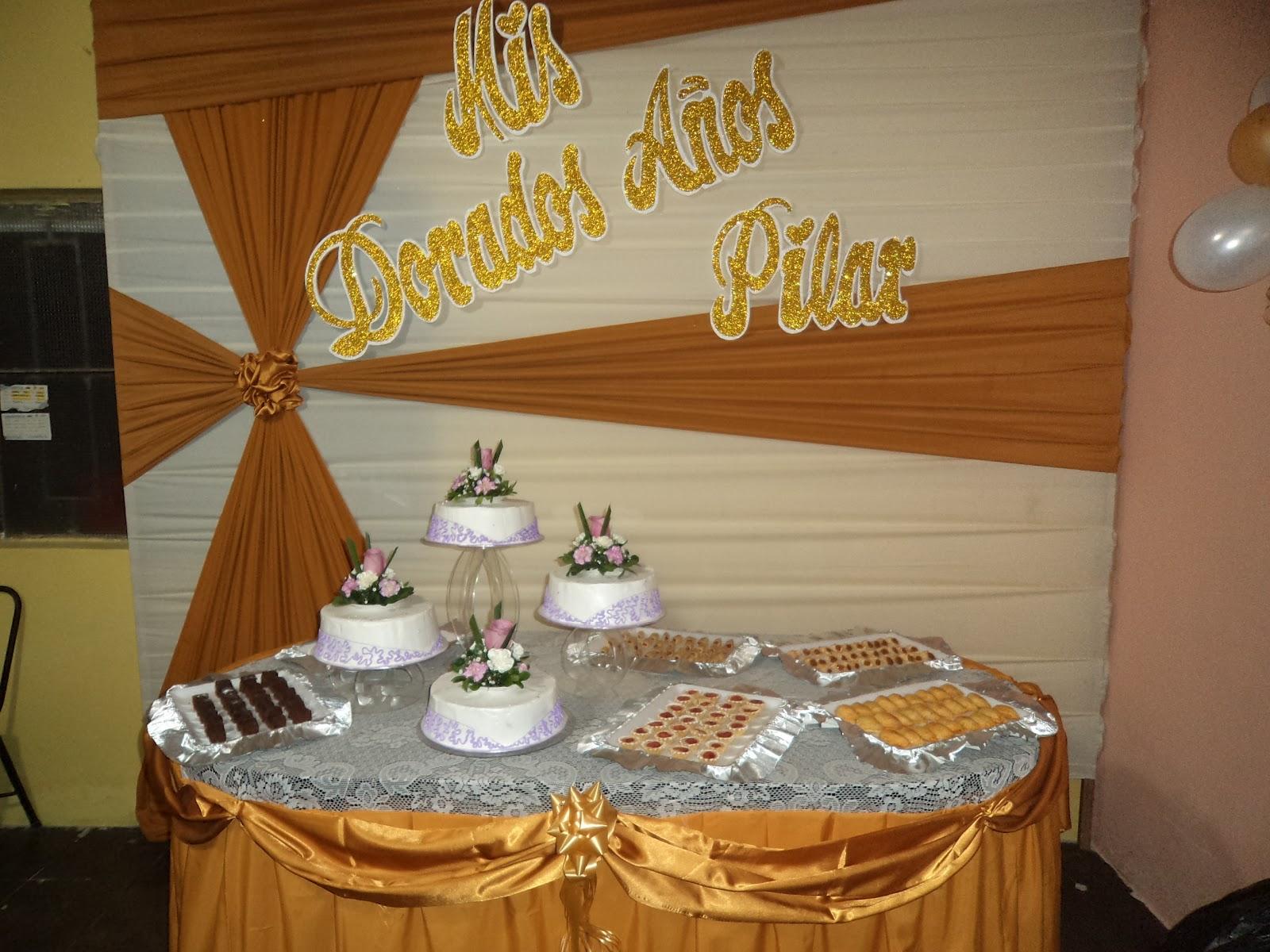 Tortas y decoraciones aryma lindos 50 a os for Decoracion con globos 50 anos