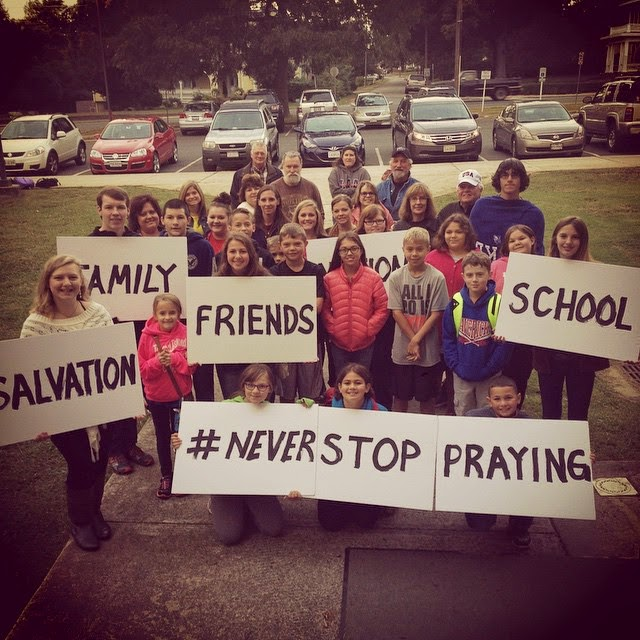 My youth group and I at See You At The Pole.