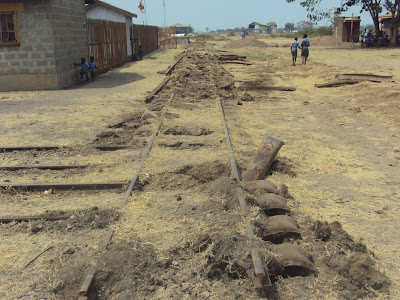The national railway company is pulling (image: Bwambale Robert) out old rails with plans to revitalize Uganda's rail system through Kasese.