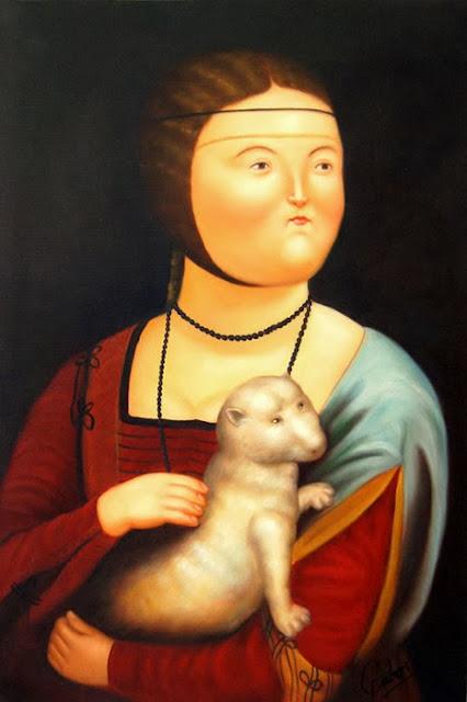 Botero a Parma, dama con l'ermellino
