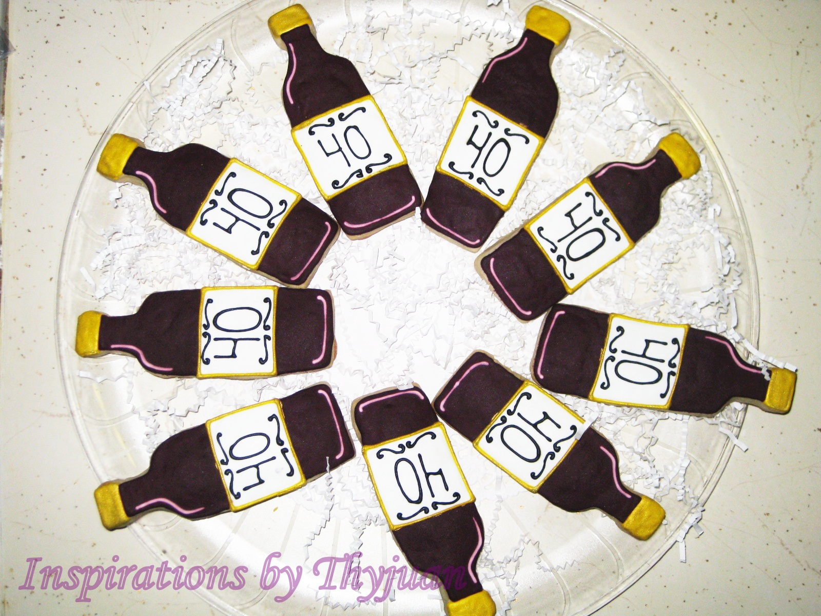 Inspirations by Thyjuan LLC.: Wine Bottle Cookie Favors