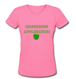 http://teacherscloset.spreadshirt.com/crisscross-applesauce-pink-and-green-A14353503/customize/color/194