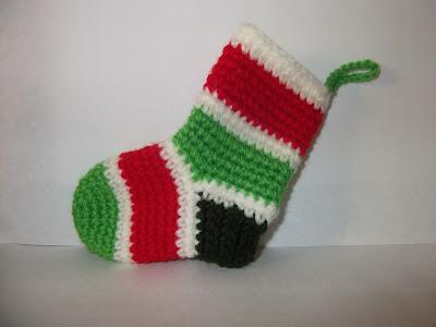 adorno calcetín de navidad crochet