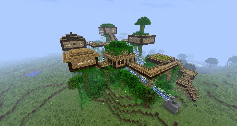 Minecraft - Mapa Casa Na Árvore ~ Final Downs: finaldowns.blogspot.com.br/2013/05/minecraft-mapa-casa-na-arvore.html