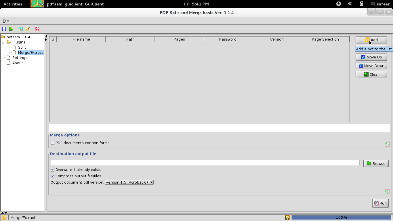 merge pdf files linux pdftk