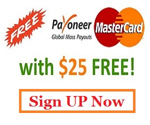 Get a free master card with $25 free