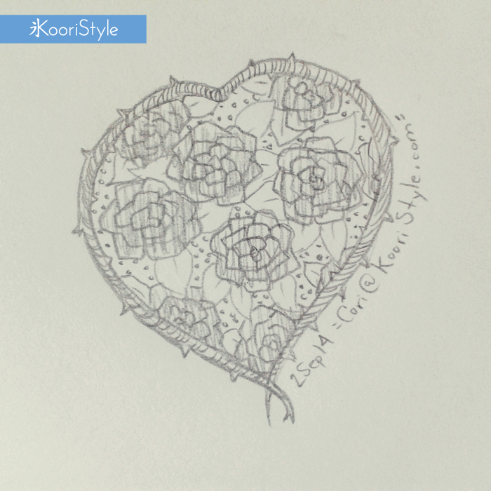 Koori Style KooriStyle Drawing Doodle Skecth Anime Kawaii Rose Heart