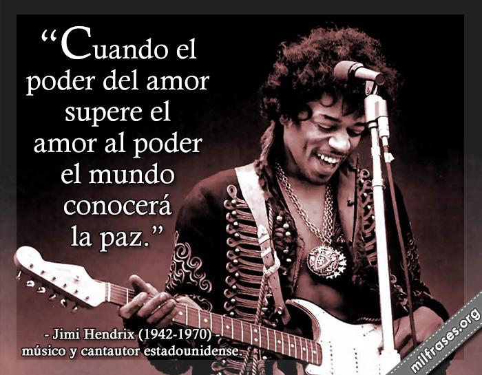 frases de Jimi Hendrix, músico y cantautor estadounidense.