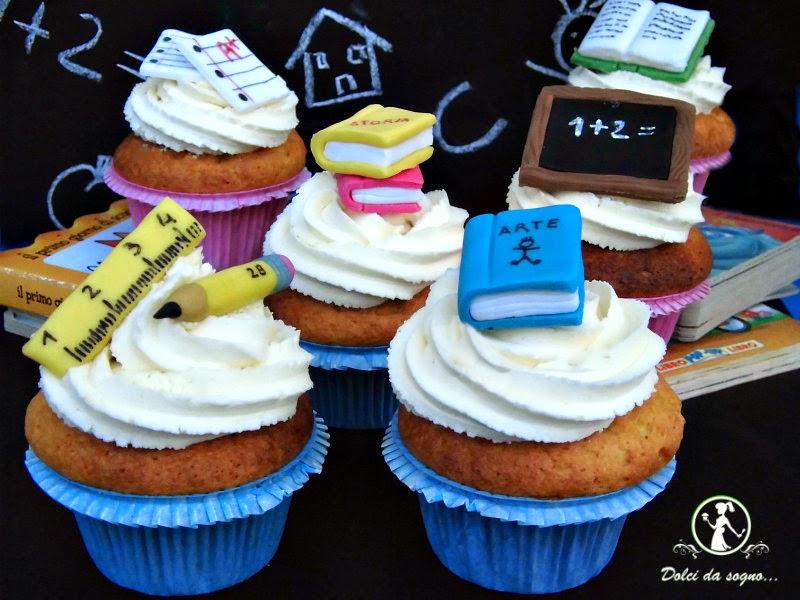 cupcake per il ritorno a scuola