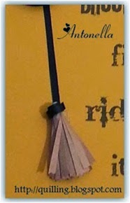 Free Quilled Quilling Witches Broom for Halloween