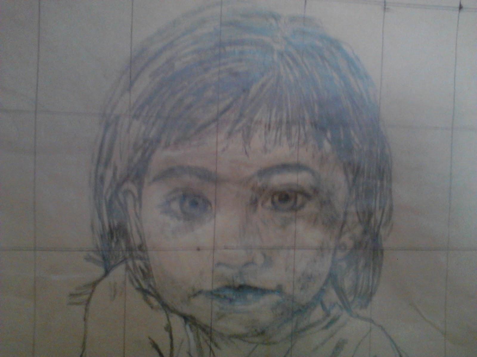 Retrato infantil al leo paso a paso uno m s uno son dos - Retrato oleo paso a paso ...