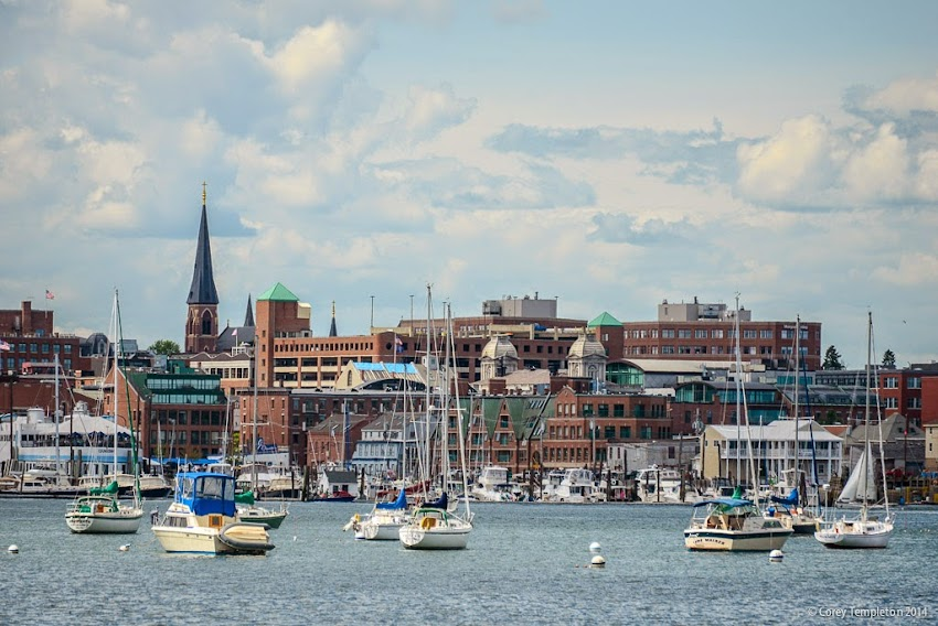 Portland, Maine Old Port Summer Skyline and waterfront harbor June 2014 Photo by Corey Templeton