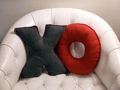 Como hacer almohadas con forma de letras
